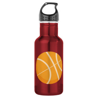Pink Basketball Water Bottle