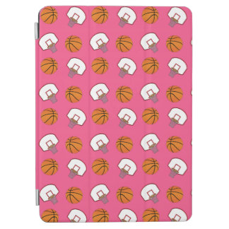 Pink basketballs and nets pattern iPad air cover