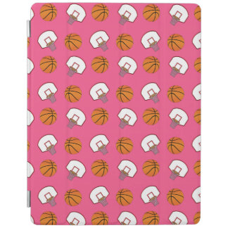 Pink basketballs and nets pattern iPad cover