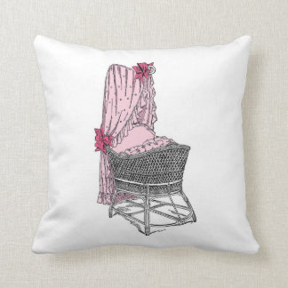 Pink Bassinet Baby Pillow
