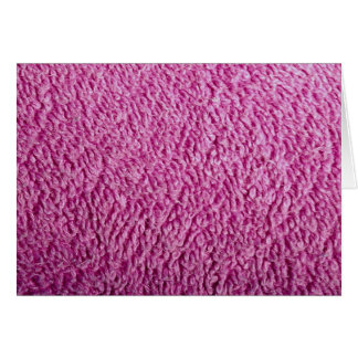 Pink bath towel greeting card