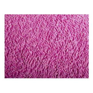 Pink bath towel postcard