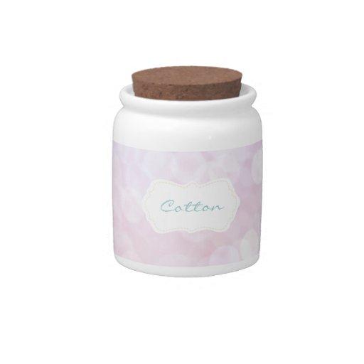 Pink Bathroom Cotton jar Candy Jars