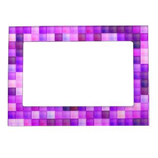 Pink Bathroom Tile Squares pattern Magnetic Photo Frame