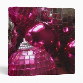 Pink Baubles binder