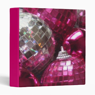 Pink Baubles binder pink