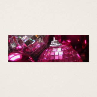 Pink Baubles business card template skinny