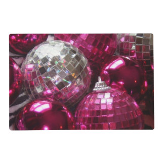 Pink Baubles placemat