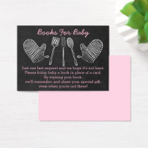 Pink BBQ Baby Shower Book Request Cards