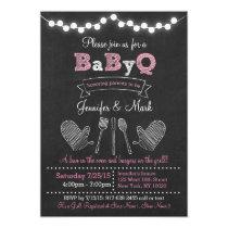 Pink BBQ Baby Shower Invitations