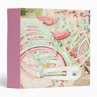 Pink Beach Cruisers 3 Ring Binder