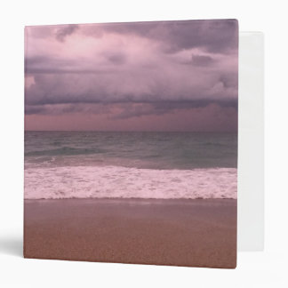 Pink Beach Front Covered Three Ring Binder