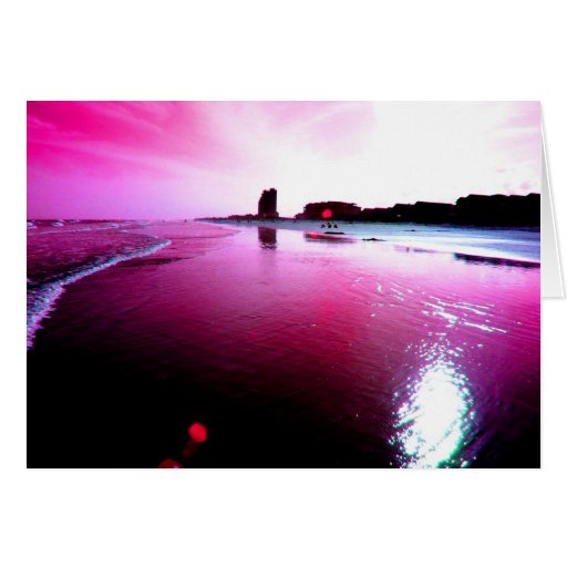 Pink Beach Greeting Cards