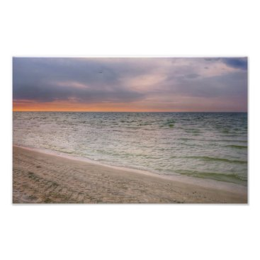 Beach Themed Pink Beach Photo Print