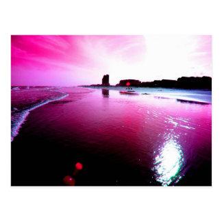 Pink Beach Postcard