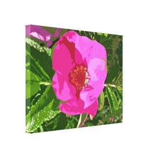 Pink Beach Rose - Digitally Enhanced Canvas Print