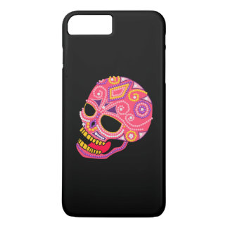 Pink Beaded Sugar Skull iPhone 7/6+ Case