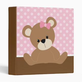 Pink Bear Binder