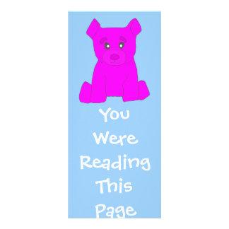Pink Bear Bookmark Template Customized Rack Card
