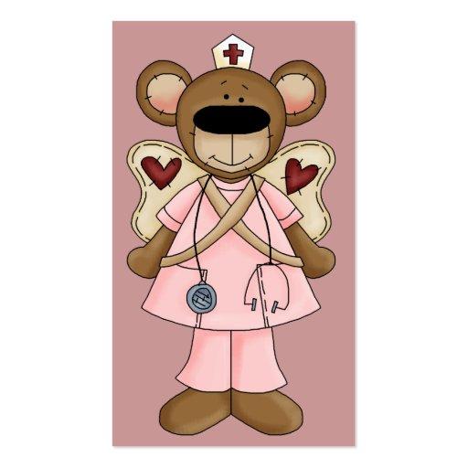 Pink Bear Nurse Business Card