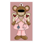 Pink Bear Nurse Business Card
