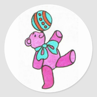 Pink Bear Stickers