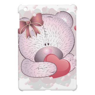 Pink bear with heart cover for the iPad mini