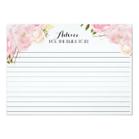 Pink Beautiful Floral Advice Cards