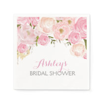 Pink Beautiful Floral Napkins