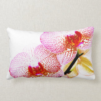 Pink beautiful orchid flower blooming pillow