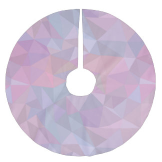 Pink beautiful triangle contemporary style pattern brushed polyester tree skirt