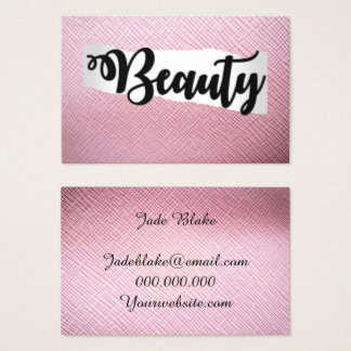 Pink Beauty Business Card