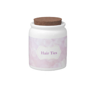 Pink Bedroom accessory for Hair Ties/ Hair ribbons Candy Dish