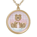 Pink Bedtime Teddy Necklace