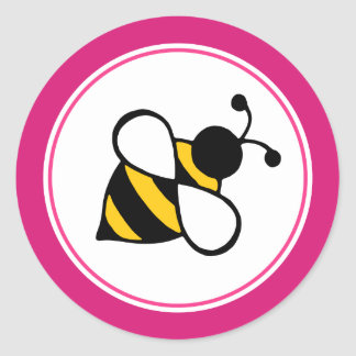 Pink Bee Stickers