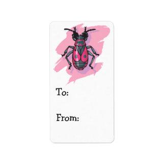 pink beetle label