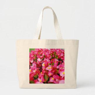 Pink Begonia Sensation, Large Tote Bag