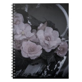 Pink Begonias Resting On Bench Notebook