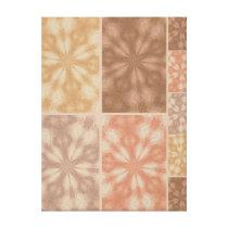 Pink Beige Brown Pattern Canvas Print