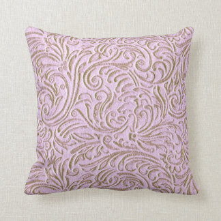 Pink Beige Color Vintage Tin Tile Look Rustic Home Throw Pillow