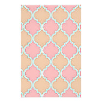 Pink Beige Moroccan Trellis Pattern Flyer