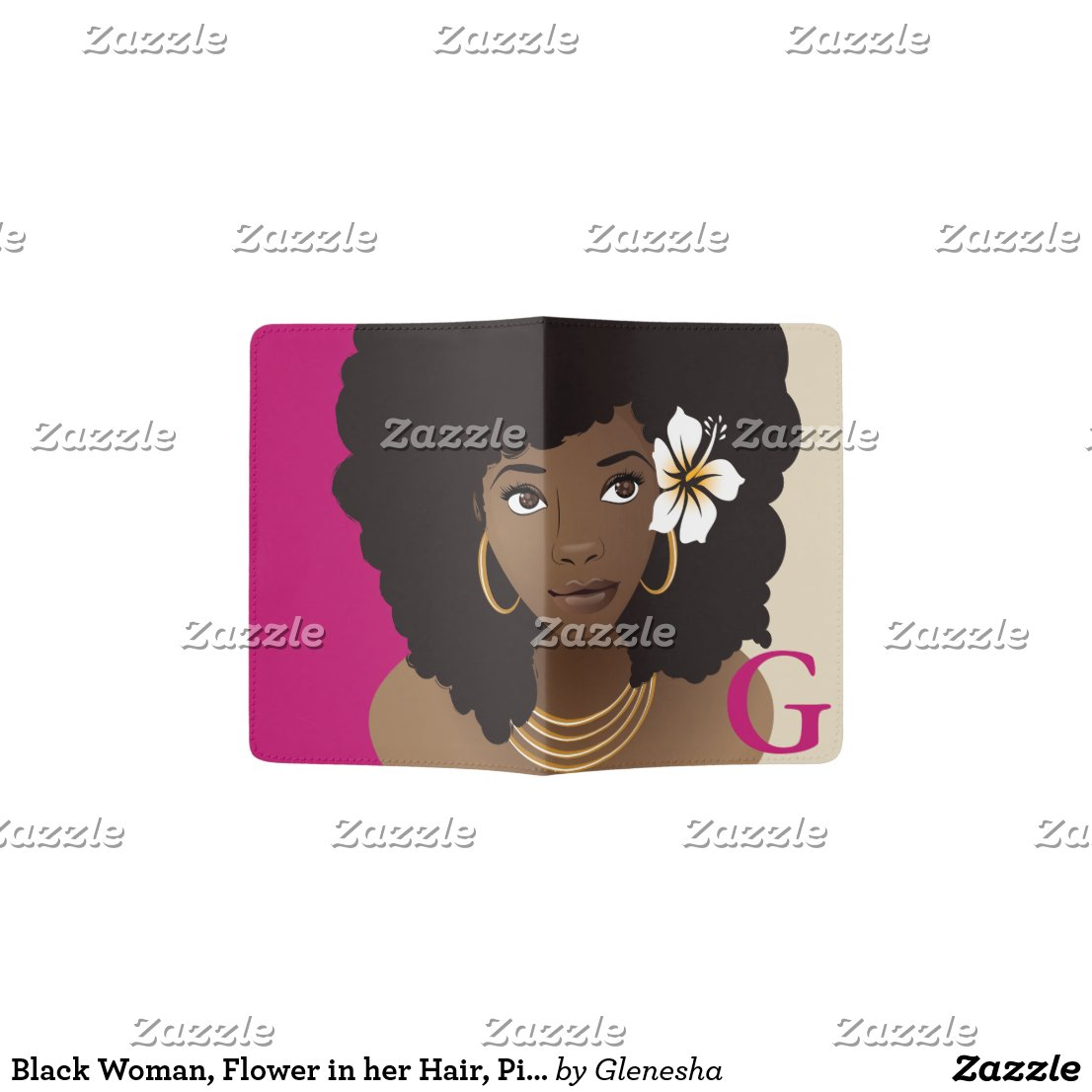 Pink & Beige Natural Beauty Passport Holder