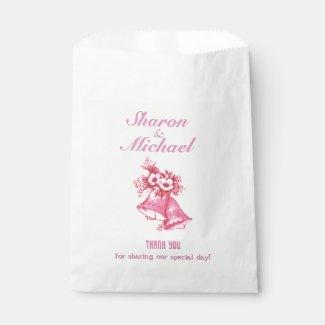 Pink Bells Wedding Favor Bags