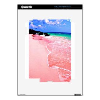 Pink Bermuda Beach Decals For iPad 2