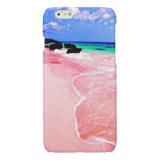 Pink Bermuda Beach Glossy iPhone 6 Case