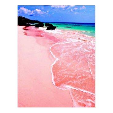 Beach Themed Pink Bermuda Beach Postcard