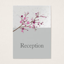 pink berries elegant winter Reception Cards
