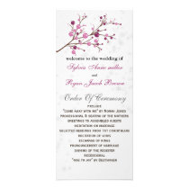 pink berries elegant winter Wedding program