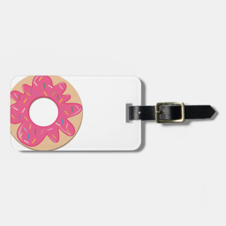 Pink Berry Sprinkle Donut Travel Bag Tag