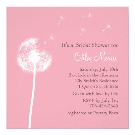 Pink best wishes bridal shower invitation square for Best bridal shower invitations